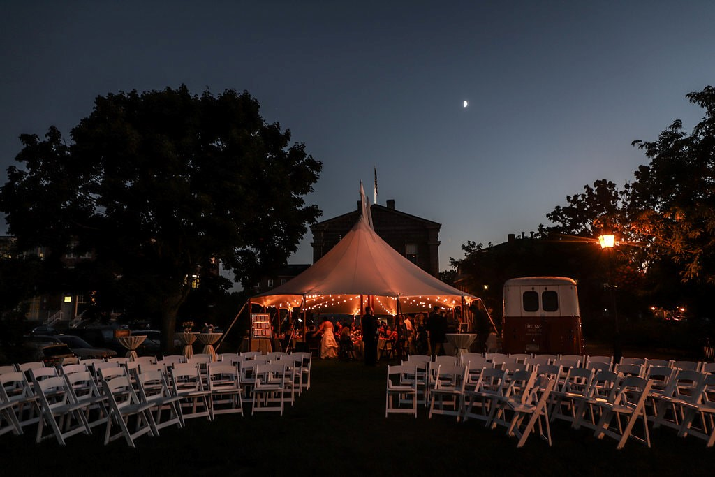 Sperry Tents Seacoast Wedding At Custom House Museum In Newburyport, Massachusetts