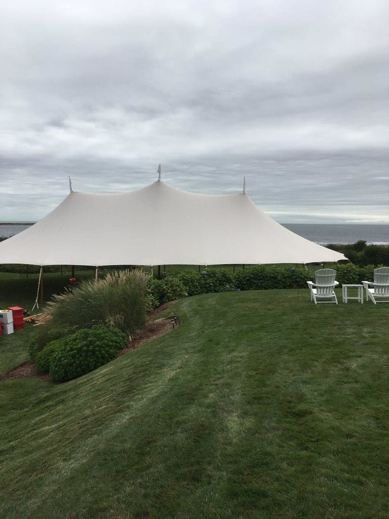 Sperry Sailcloth Tent Hosts Waterfront Wedding In Gloucester, Massachusetts