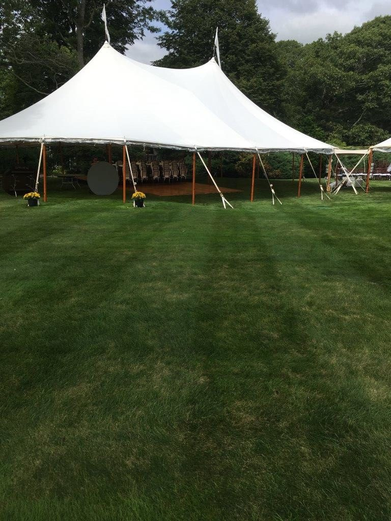 Sperry Sailcloth Tent At Waterfront Wedding At Manchester-By-The-Sea