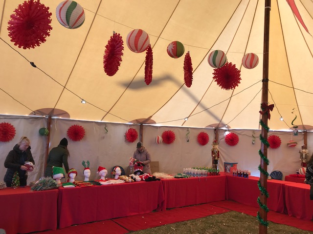 Sperry Tent at Newburyport North Pole Express