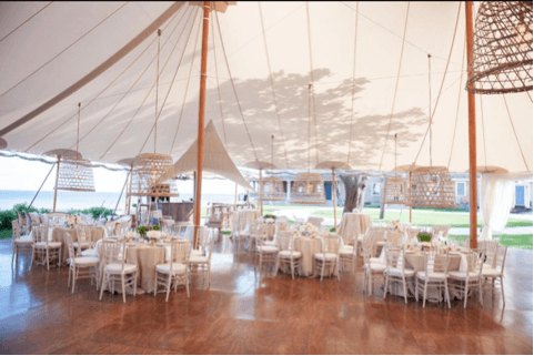Inside Wedding Tent Setup