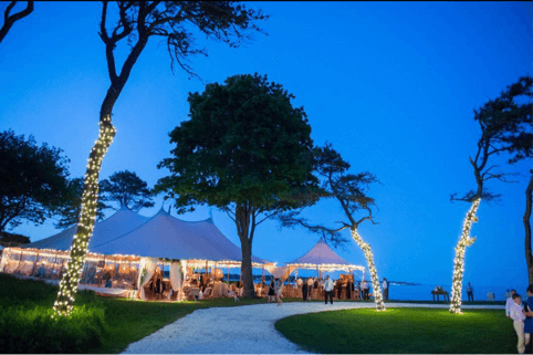 Maine Wedding Tent With Lighting