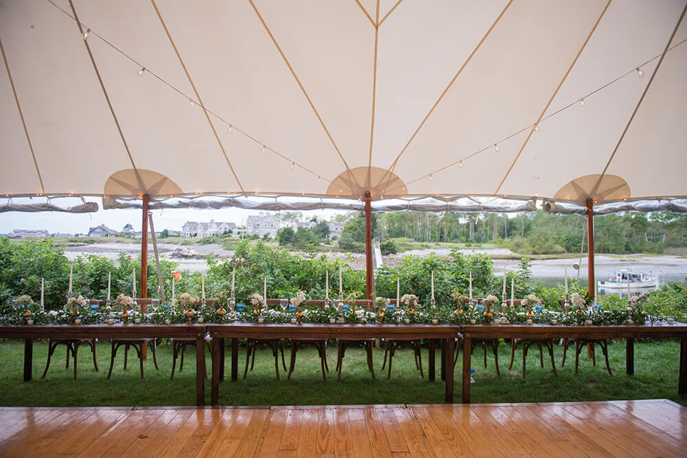 Kennebunkport Maine Tented Wedding