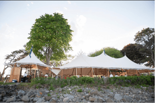 Maine Waterfront Wedding Tent