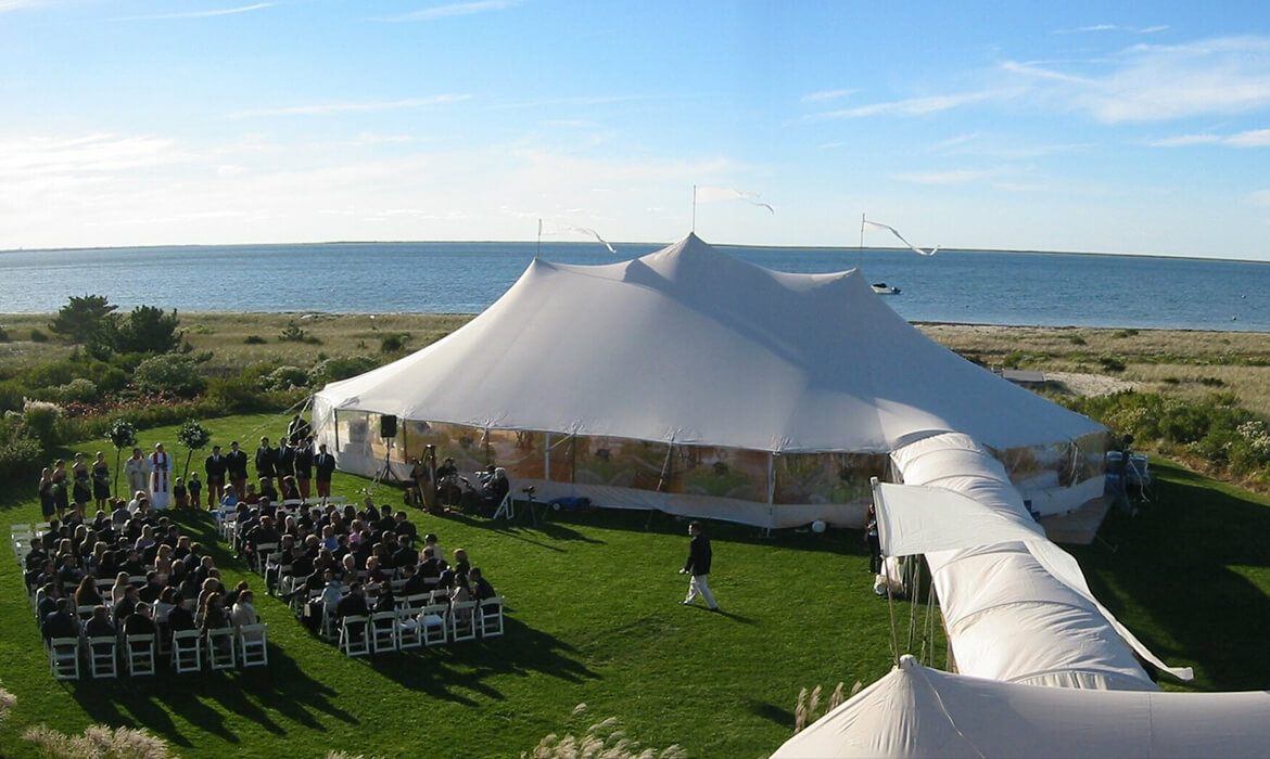 Sailcloth Wedding Tent with Walkway