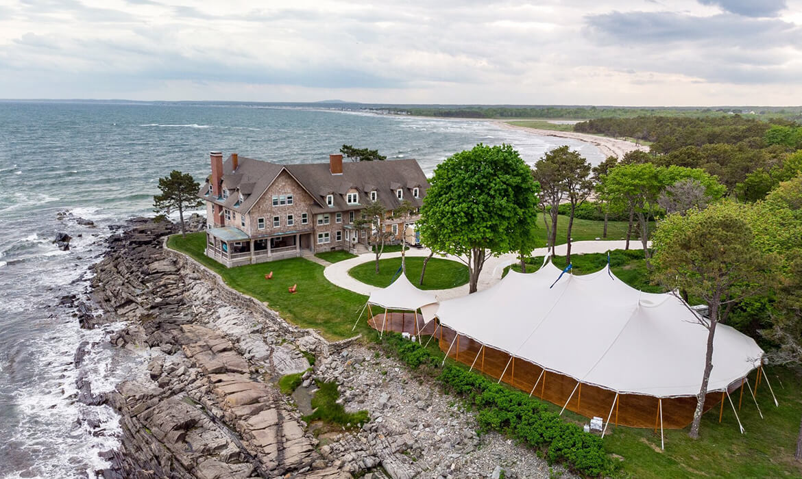 Sailcloth Wedding Tent by the Bay