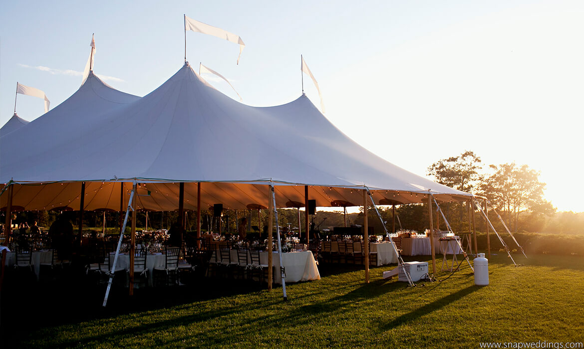 Sailcloth Wedding Tent Rental in Sunset
