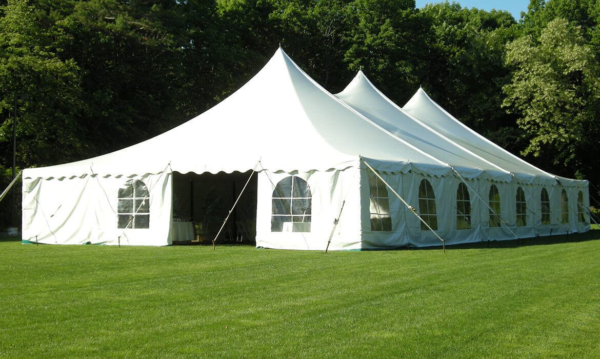 Tension Wedding Tent Rental on Grass
