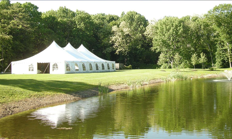 Tension Wedding Tent Overlooking Water