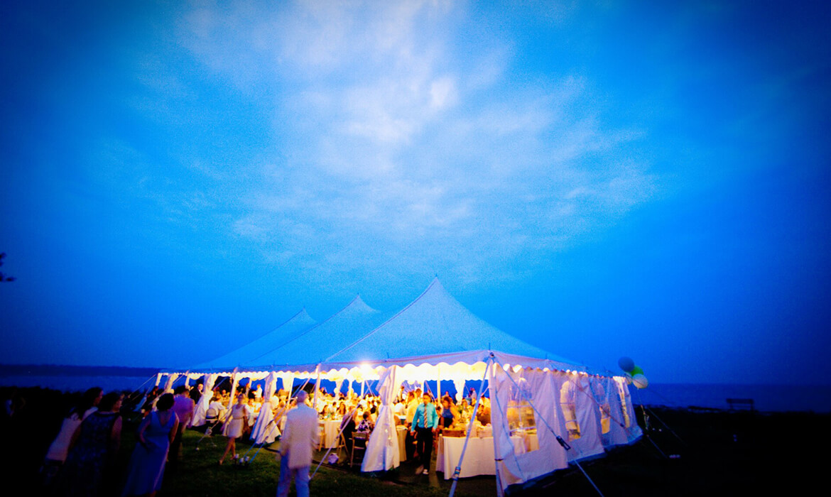 Party Around Tension Wedding Tent