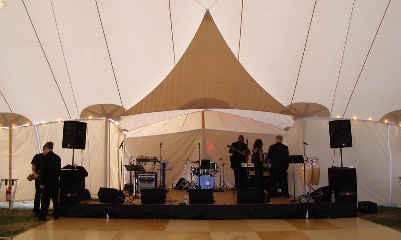 Bandstand rental for wedding band