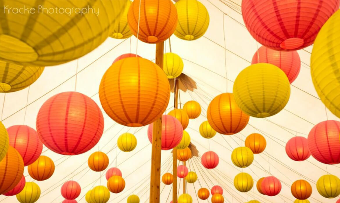 Bright Colored Asian Lanterns
