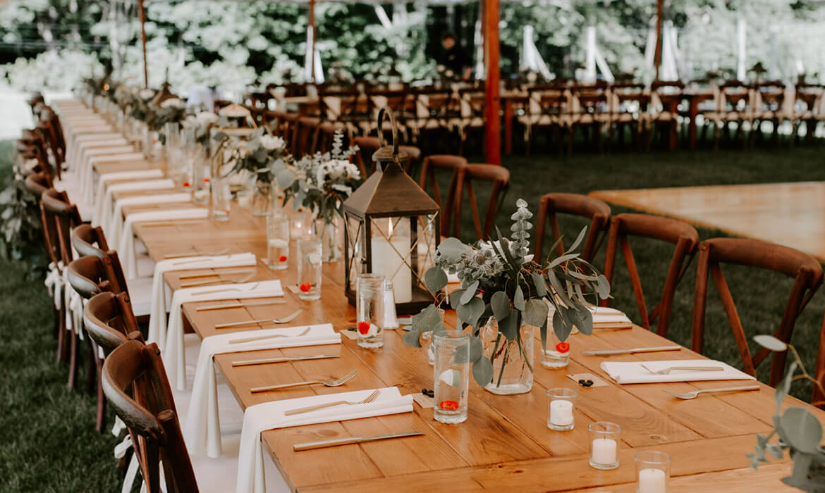 Long Wedding Tables for rent