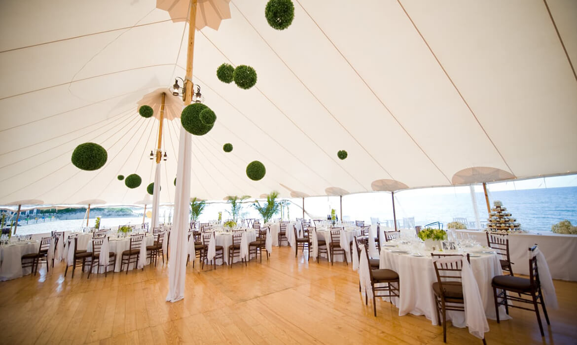 New England Pine Laydown Flooring at Wedding