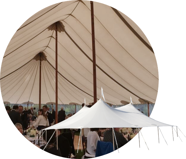 Sperry Sailcloth Wedding Tents for Rent