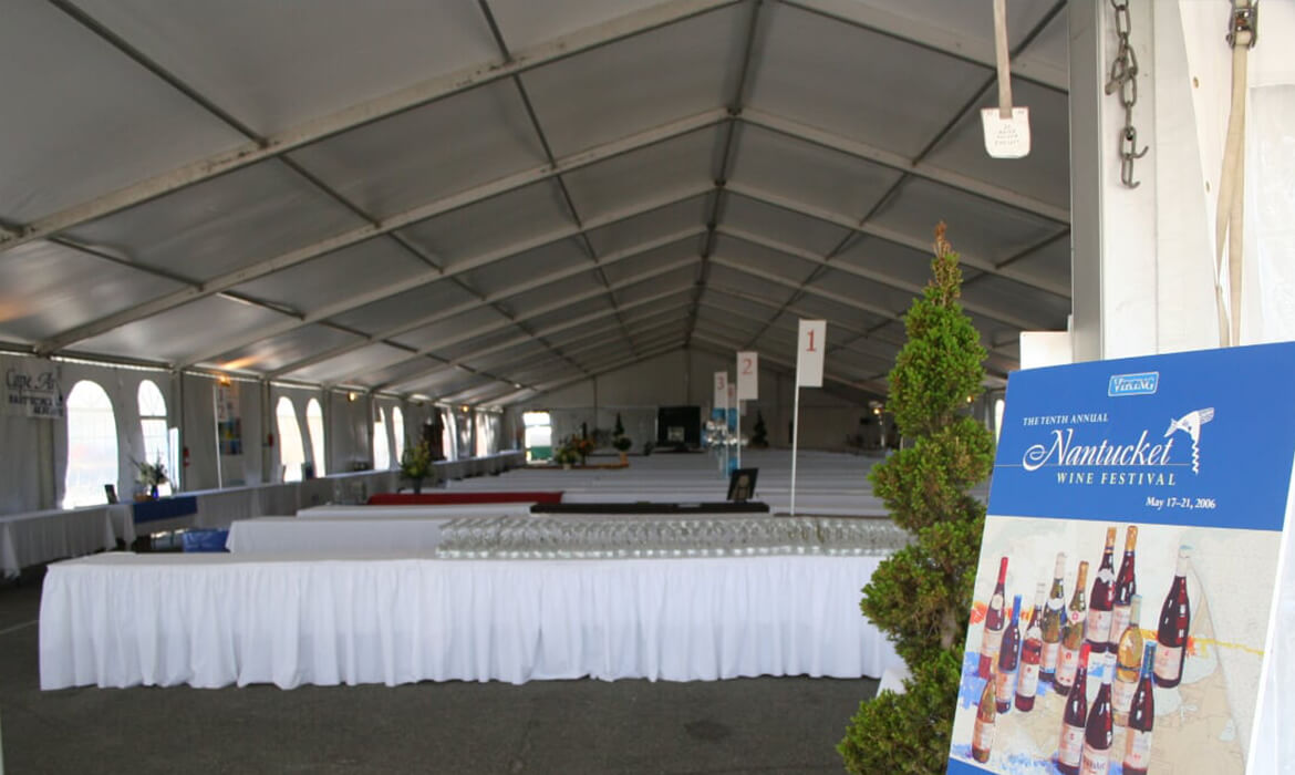 Inside of Traditional Frame Tent for Event