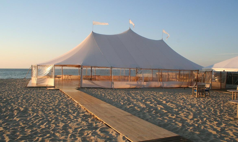 Full floor for wedding on beach