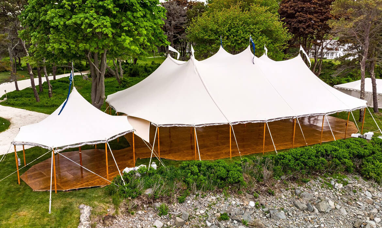Full wedding tent flooring
