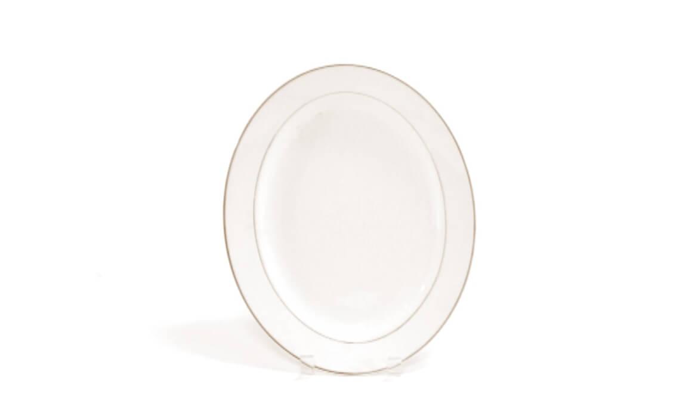 12in Gold Rim Platter