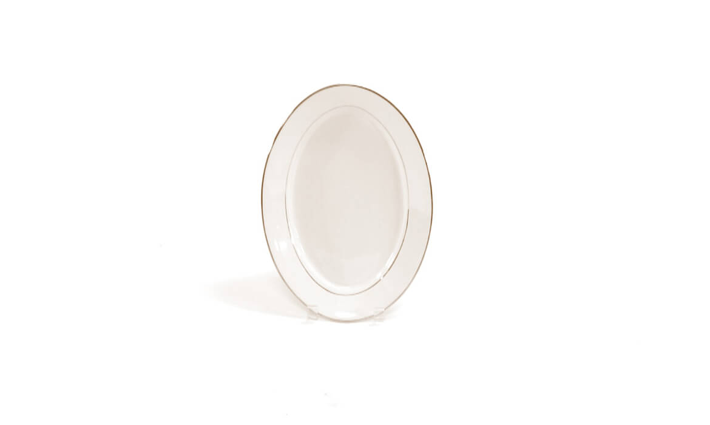 13in Gold Rim Platter