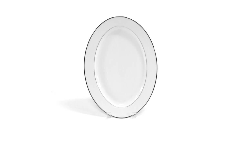 15in Platinum Rim Platter