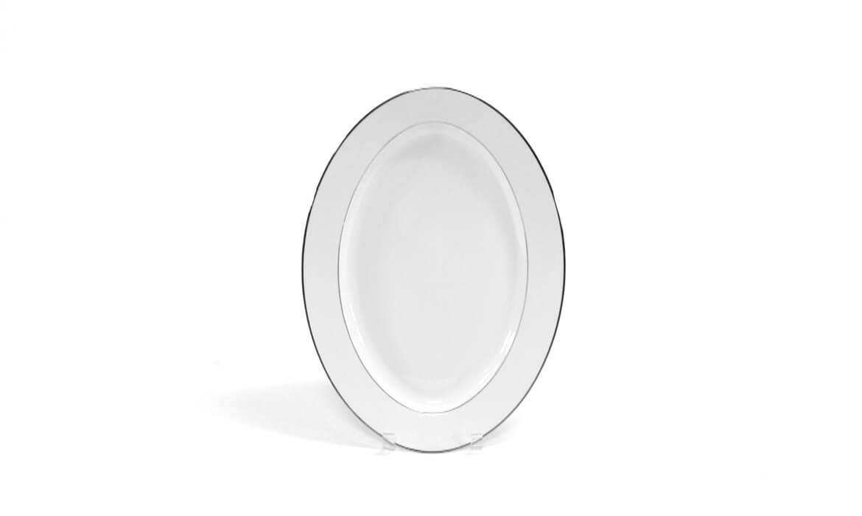 17in Platinum Rim Platter