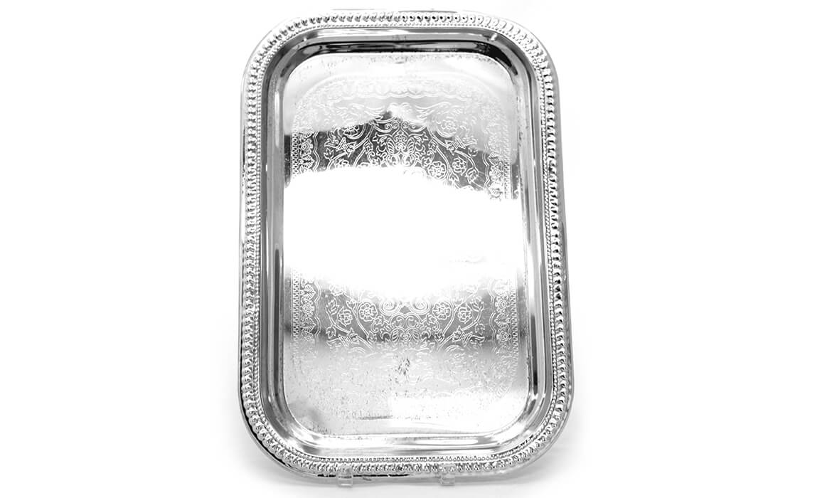 18in Chrome Serving Tray