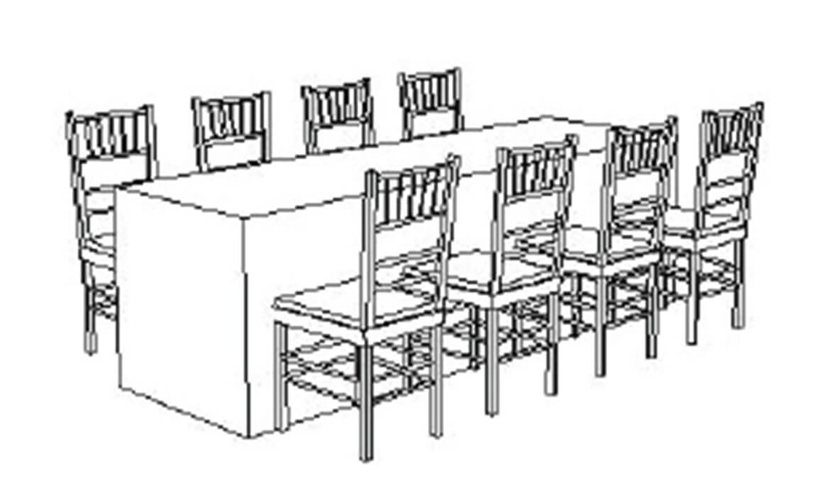 8' Table - Seats 8