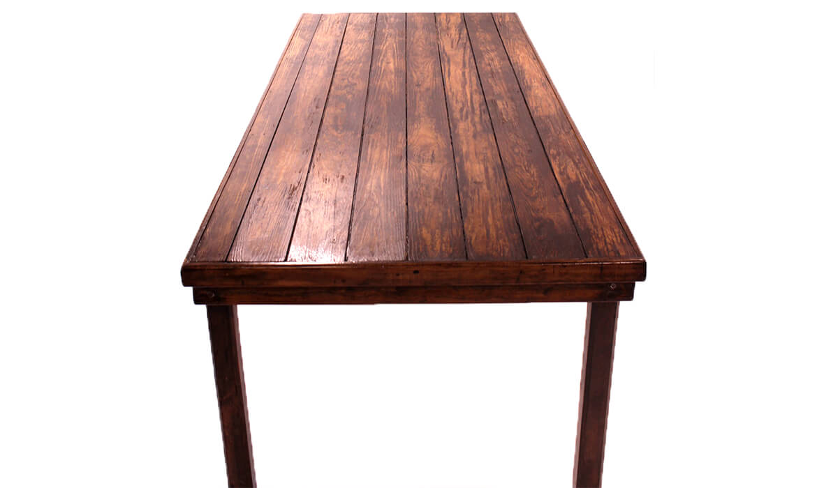 Dark Wood Farm Table