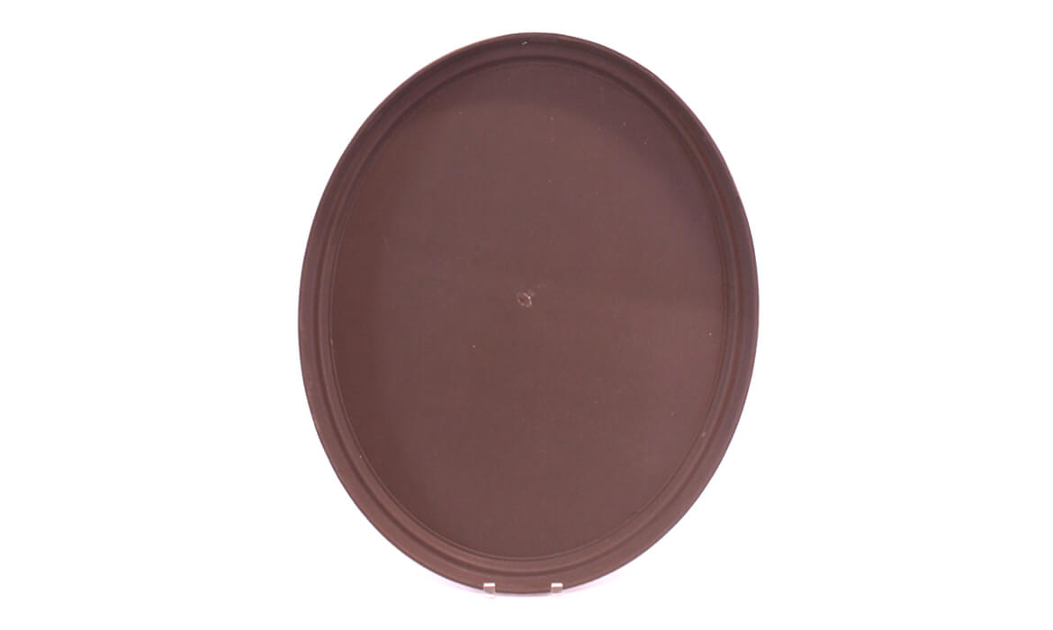 Large Brown Oval Serving Tray
