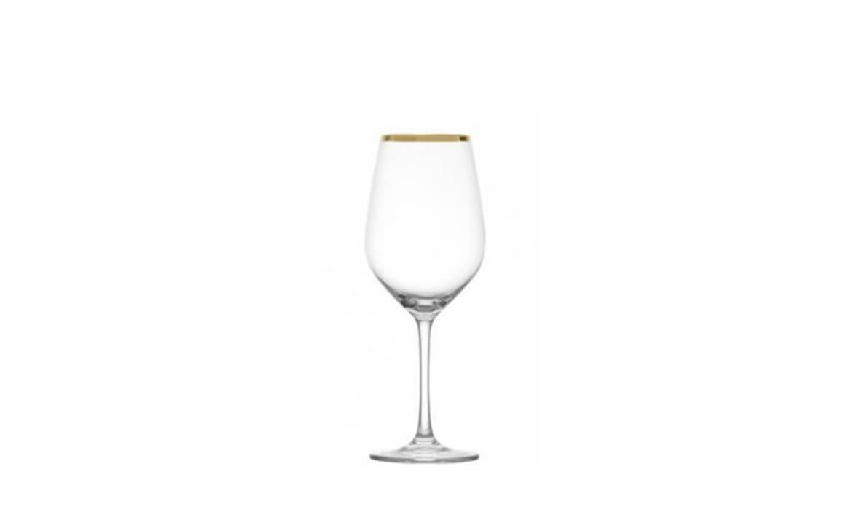 14oz Gold Rim Wine