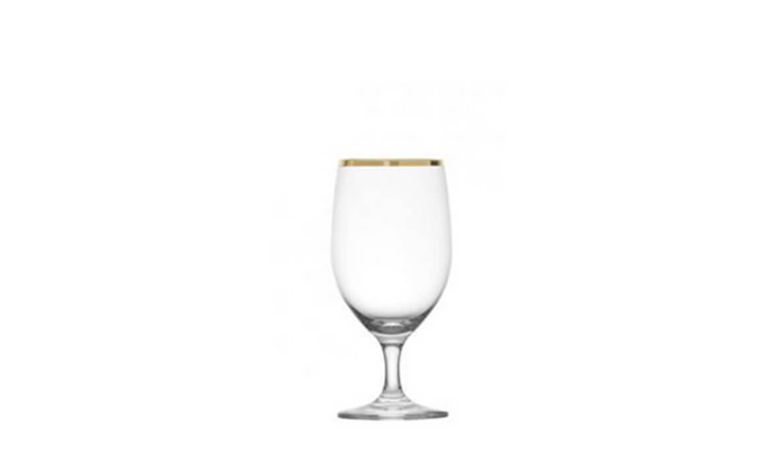 15oz Gold Rim Water Goblet