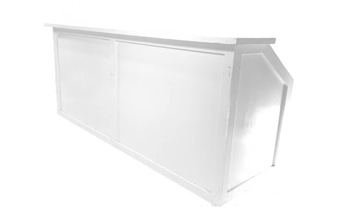 8ft White Bar Side View
