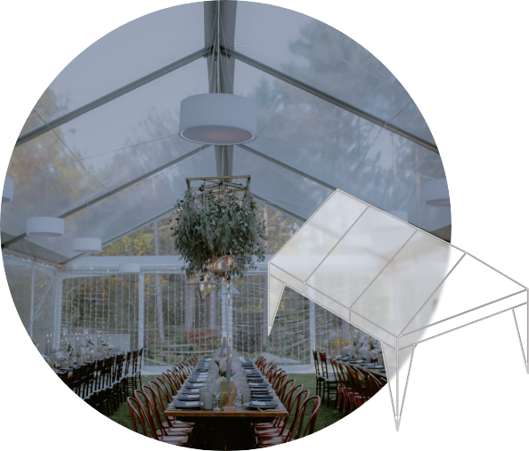 Clear frame tent rentals