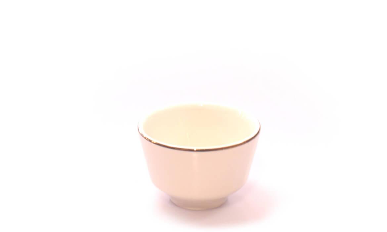 Gold Rim Soup Cup