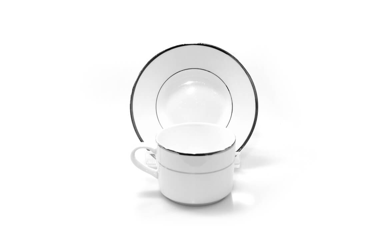 Platinum Rim Cup & Saucer