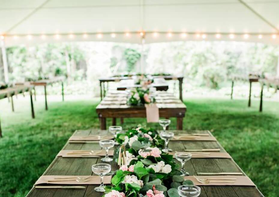 Tables & Tent Rental for Restaurant