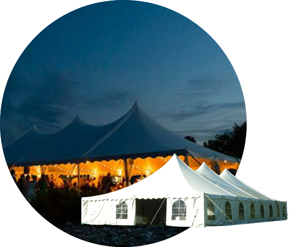 Tension frame tent rentals