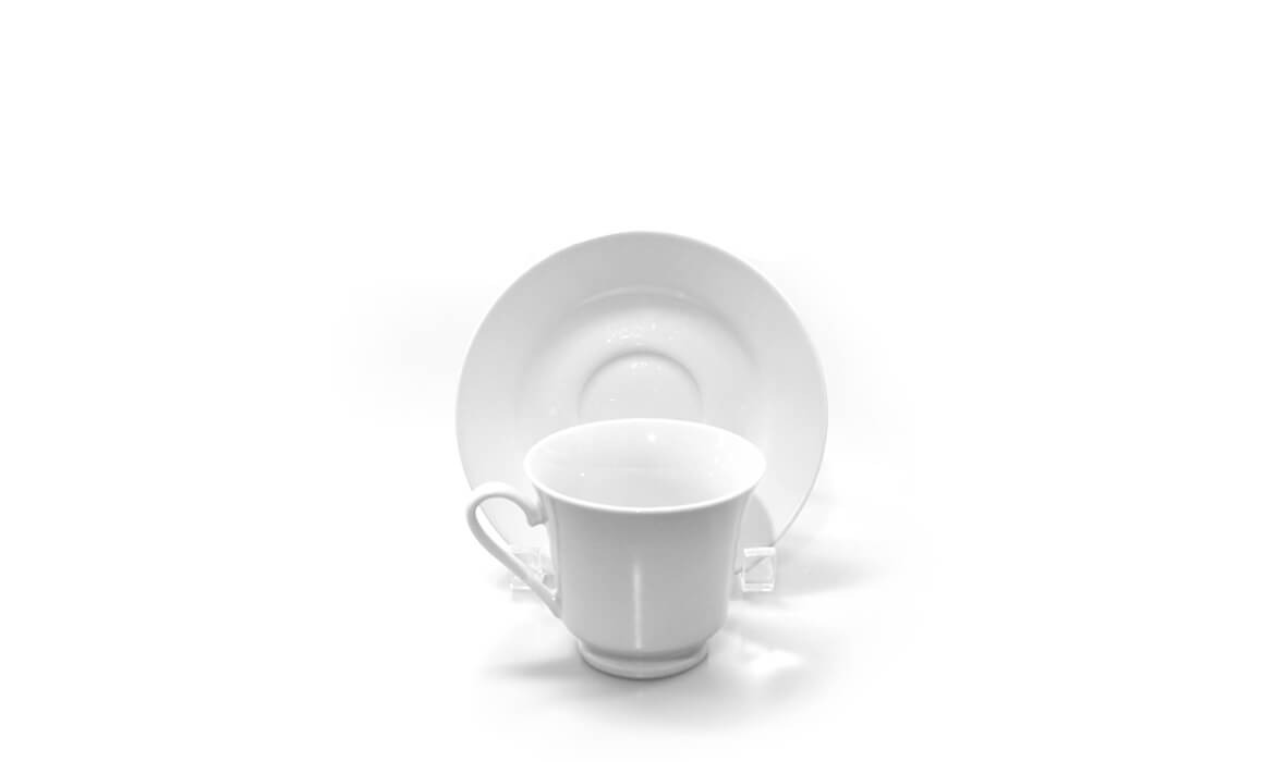 Wedding White Cup & Saucer