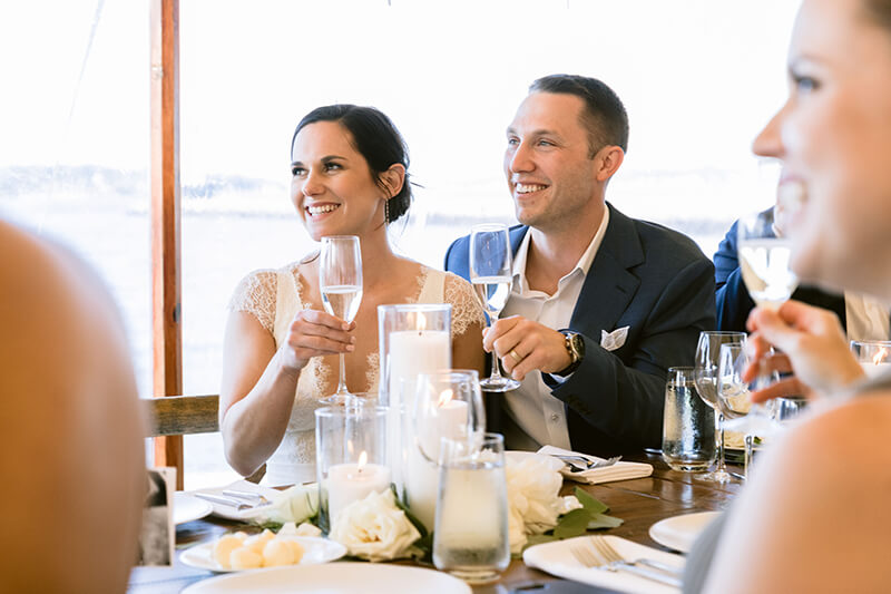 Elegantly Simple and Nautically Refined- A Tented Wedding on the Coast of Maine