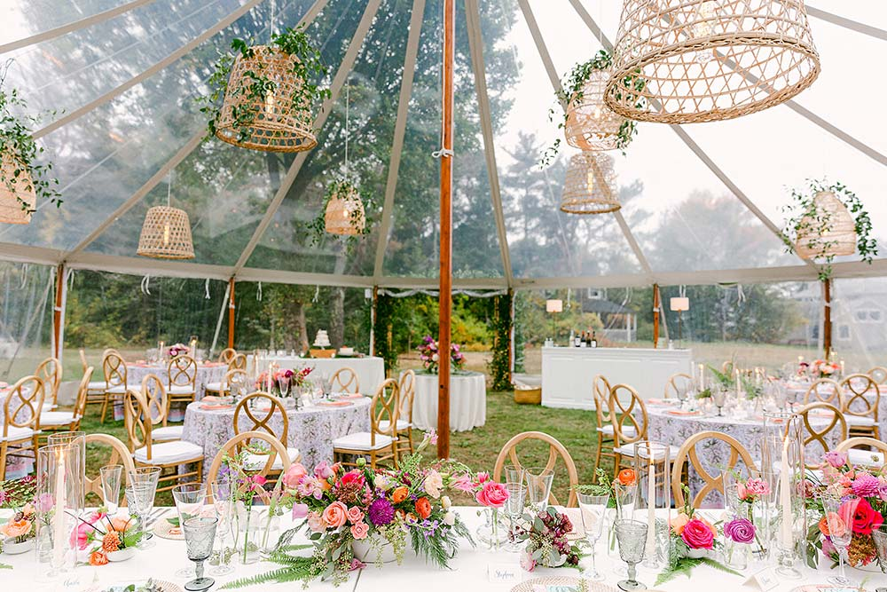 8 Creative Ways to Decorate the Ceiling of Your Wedding Tent Rental